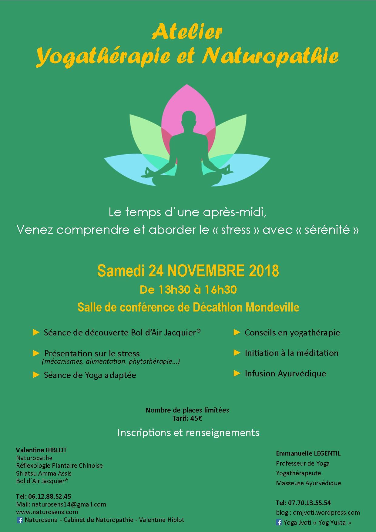 Affiche atelier yoga-naturo stress 24 nov 2018